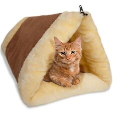 2-in-1 Cat Pet Bed Tunnel Fleece Tube Cushion Mat Pad For Dog Kennel Crate House