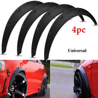 "4x 3.5""/90mm Universal Flexible Car Fender Flares Extra Wide Body Wheel Arche IY"