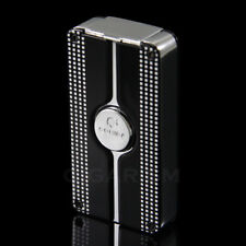 COHIBA Black Classic 3 Torch Jet Flame Cigar Lighter W/ Punch New Design
