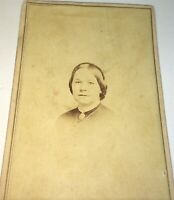 Antique Victorian American Civil War Fashion Old Woman Tax Stamp NY CDV Photo!
