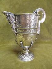 Gorgeous 20th c spanish silver heavy ewer (jarro de pico) spanish renaissance st