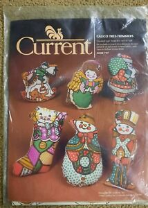 Vtg 1982 VINTAGE CURRENT CALICO TREE-TRIMMERS 6 DESIGNS SEWING CHRISTMAS KIT NOS