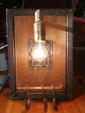 Handmade Lamp wooden and metal Base with hanger