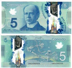 "Canada 5 Dollars 2013 EF-AU ""INE"" Wilkins-Macklem"
