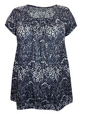 Marks and Spencer Floral Viscose Scoop Neck Women's Tops & Shirts
