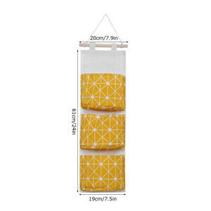2PCS Wall Hanging Storage Bag Wardrobe Organizer Toys Container Pocket Pouch