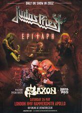 JUDAS PRIEST - magazine advert for the 2012 tour date - 28.4 x 20.5 cms