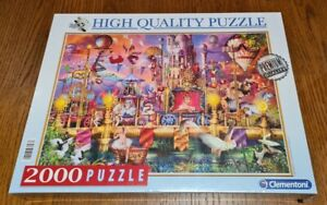 """Clementoni 2000 piece Jigsaw puzzle """"The Circus"""" High Quality Puzzle"""