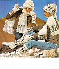 Llama Knitting Pattern Socks Hat Gloves Scarf Mitts Vintage Repro Black & White