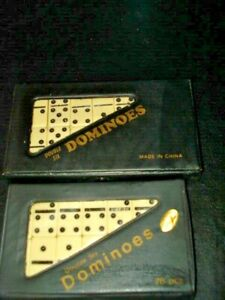 2 sets Miniature  Mini 28 Piece Dominoes Sets In Case