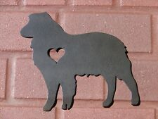 AUSTRALIAN SHEPHERD PET DOG MEMORIAL GARDEN YARD LAWN