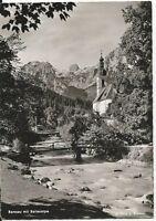 Ansichtskarte Ramsau - Ramsau mit Reiteralpe und Ramsauer Ache - schwarz/weiß