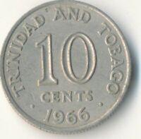 COIN / TRINIDAD TOBAGO / 10 CENTS 1966     #WT9316