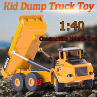 1:40 Scale Diecast Dump Truck Construction Vehicle Cars Model Mining Toys Gift