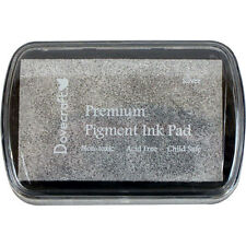 Dovecraft Premium Pigment Ink SILVER METALLIC Stamp Pad Craft Cardmaking