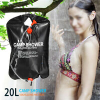 20L Portable Shower Heating Pipe Bag Solar Water Heater Temperature  J
