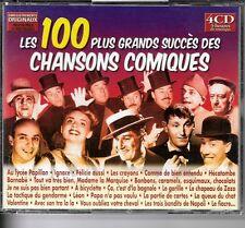 COFFRET 4 CD COMPIL 100 TITRES--GRANDS SUCCES CHANSONS COMIQUES--TRENET/SIMON...