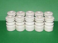 Rare Type 10 - Wp23 Ceramic Insulators ~ Wisconsin Porcelain Insulators Wp 23