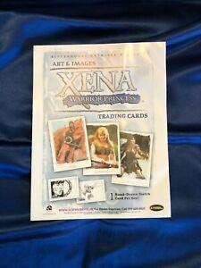 RARE ORIGINAL Xena Arts & Images Trading Cards Promo Dealer Sell Sheet