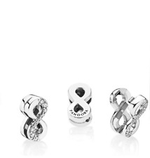 Pandora Sterling Silver Reflexions Sparkling Infinity Clip Charm 797580CZ