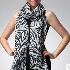Fashion Trendy Long Zebra Printed Chiffon Scarf Women Girls shawl Soft Smooth CO