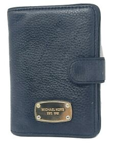 Michael Kors Black Pebbled Leather Jet Set Passport Holder Case 35S5GTTT1L