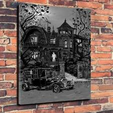 "The Munsters House, Printed Box Canvas Picture  A1.30""x20""~Deep 30mm Frame"