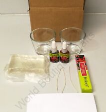 Gel Candle Making & Glass Painting Kit: cups,Jelly Wax,Wick,3D Outliner,2 Paint