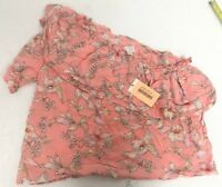 A NEW DAY Womens`s Blouse, Shirt, Top, XS, One Shoulder, Tiered, Floral  B2015