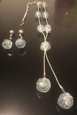 Giorgio Armani Collezioni Blue Resin Beaded Necklace Earrings Set Vintage Rare