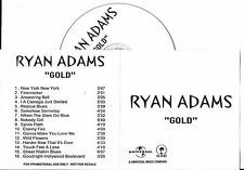CD COLLECTOR IN PLASTIC SLEEVE RYAN ADAMS GOLD 16 TITRES