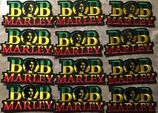 """Twelve Bob Marley Patches-Sew Or Iron On-BRAND NEW-Approx. 4 1/4"""" x 2 1/4""""-NICE!"""