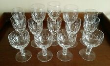 Stuart Crystal Glasses, A Collection Of 14 Glasses, Very Rare Pattern.