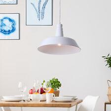 HOMCOM Retro Ceiling Lamp Loft Pendant Light Metal Shade Dining White