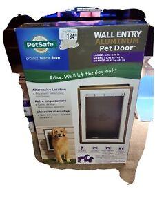 PetSafe Wall Entry Aluminum Pet Door LARGE PPA11-10917 NEW IN BOX LARGE DOG DOOR