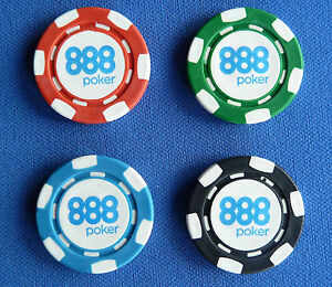 4 ORIGINAL 888 MINI Poker Chip  GOLF BALL MARKERS 22mm