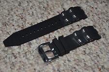 Invicta Pro Diver Scuba Black Rubber Silver Inserts Strap Band Bracelet 6977 Etc
