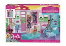 Barbie FXG54 Dollhouse Portable 1-Story House Playset with Pool + Accessories
