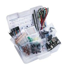 EL-CK-002 Electronic Fun Kit Bundle Breadboard Cable Resistor Capacitor LED Set