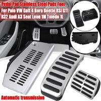 Set Fuel + Brake + Rest Foot Pedal Pad For Audi A3 Leon 1M Toledo VW Golf 4 Polo