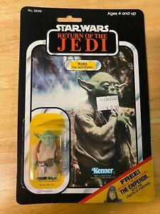 Star Wars ROTJ Yoda (The Jedi Master Figure) -1983 Kenner 65-Back - MOC Unopened