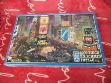 """Fx Schmid 1000 Piece Puzzle """"An Evening in Times Square"""" New, Unopened"""