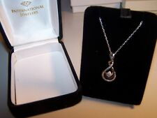 a6825af0e KAY JEWELERS DIAMOND 1/10TH DOUBLE INFINITY STERLING SILVER PENDANT&CHAIN  NIB