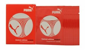 PUMA LIMITED EDITION WOMAN FRAGRANCED TOWELS 10 X 3ML - WOMEN'S FOR HER. NEW
