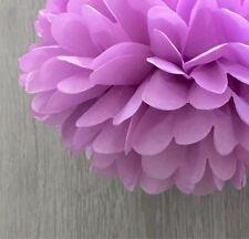 6x 25cm orchid paper pom poms wedding 21 birthday party baby shower venue decor