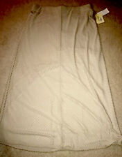 NWT Macy's Eci New York Cream Skirt XL Maxi Ivory Off White Stretch