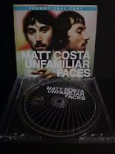 Matt Costa - Unfamiliar Faces - Promotional CD (2007) Digipak Case
