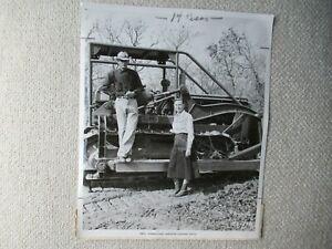 "IH International Harvester stock PHOTO man woman TD tractor 8x10"""
