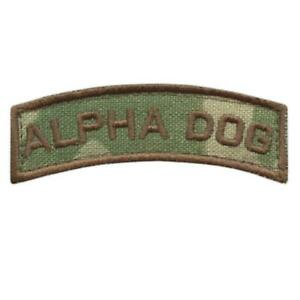 alpha dog shoulder tab multicam OCP US army tactical touch fastener patch
