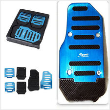 Blue 3 Pcs Nonslip Car Vehicle Accelerator Brake Clutch Foot Pedal Mat Pad Cover